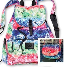 Pink Victoria's Secret tropical  backpack & purse
